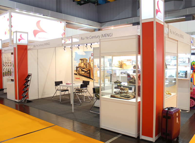 Meng's booth at the 2013 Nuremberg Toy Fair